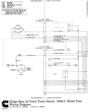 Wiring diagrams for 1998 24v ECM  Dodge Diesel  Diesel