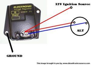 external voltage regulator?  Dodge Diesel  Diesel Truck