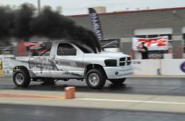 Lavon Miller at Ultimate Callout Challenge 2016, Draggin the sled