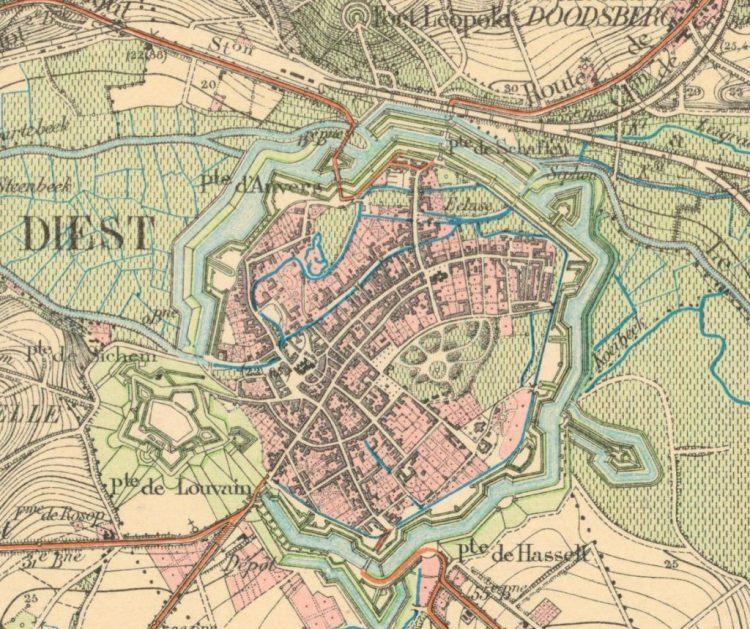 Kaart Diest 1884