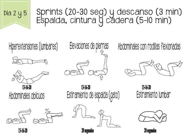 Tonificación de espalda, cintura y cadera. Ejercicios para adelgazar rápido