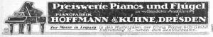 Hoffmann & Kühne, Reklame 1919