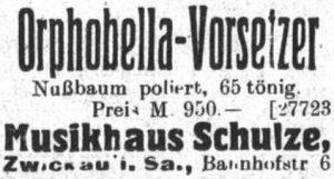 Orphobella, Musikhaus Schulze