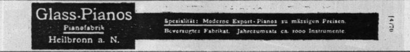Anzeige Glass 1913