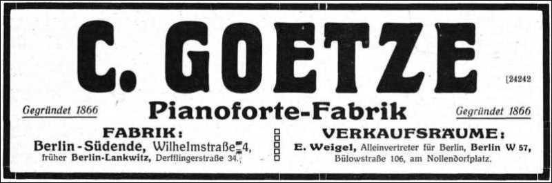 Anzeige Fa. Goetze