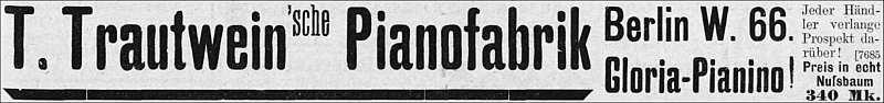 Fa. Trautwein 1899