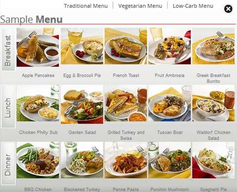 diet to go sample menus