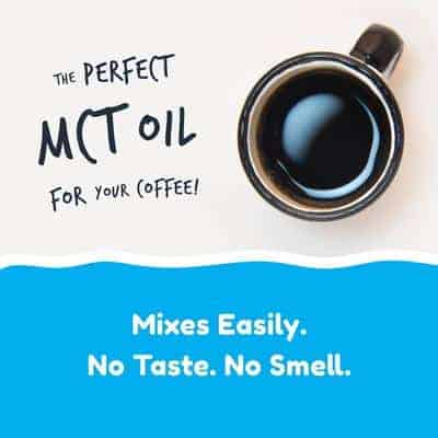 MCT Oil mixes easily with coffee