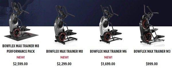 bowflex max trainer price
