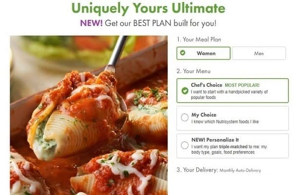 Nutrisystem Uniquely Yours Ultimate