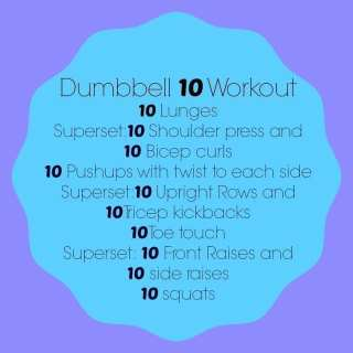 Dumbbell 10 Workout