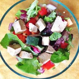 Spiced Tofu Green Salad