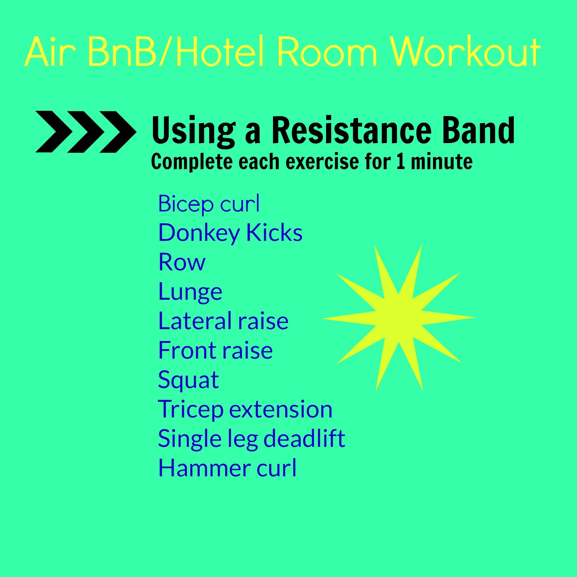 AirBnB Hotel workout