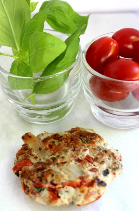 Caprese turkey burger