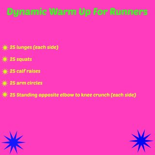 Dynamic Warm Up (for runners)