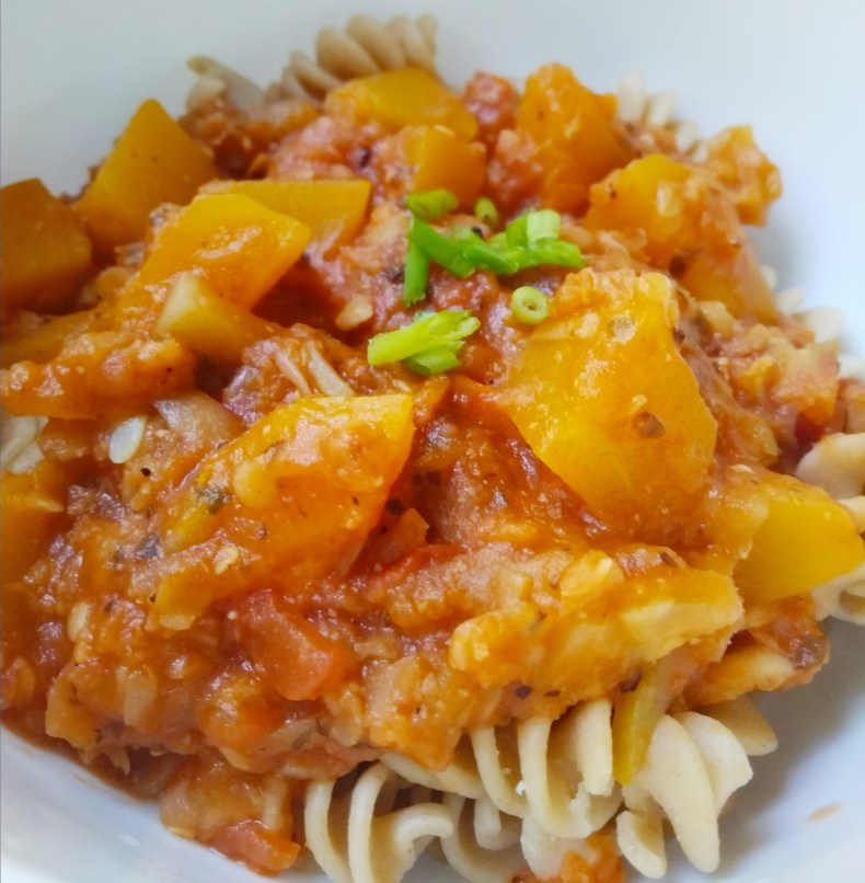 Fast 40 minute meals, quick dinner recipes, vegan, vegetarian, egg-free, dairy-free, gluten-free, nut-free, plant-based, whole food, clean eating vegan red lentil pumpkin pasta