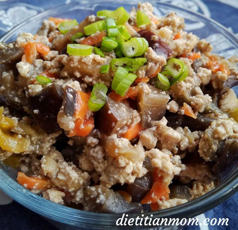 Vegan, Vegetarian, Asian Inspired, Egg-Free, Dairy-Free, Nut-Free, Plant-Based, Eggplant Tofu With Garlic Sauce, Easy Dinners, Weeknight Meals, Recipe, Asian Stir-Fry Dish