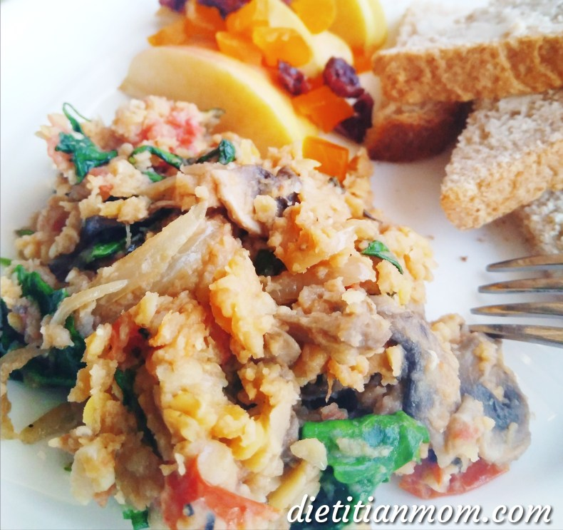 Vegan, plant-based, egg-free, dairy-free, breakfast, red lentils, easy meal ideas, Breakfast Lentil Scramble recipe