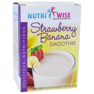 NutriWise Strawberry Banana Diet Protein Smoothie (7/Box) Image