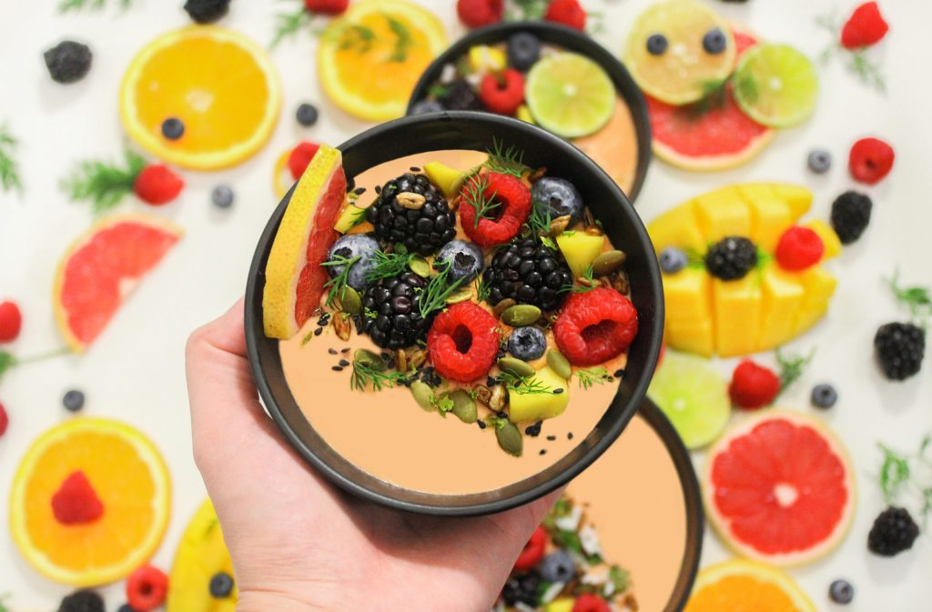 Rainbow Colored Smoothie Bowl for weight loss