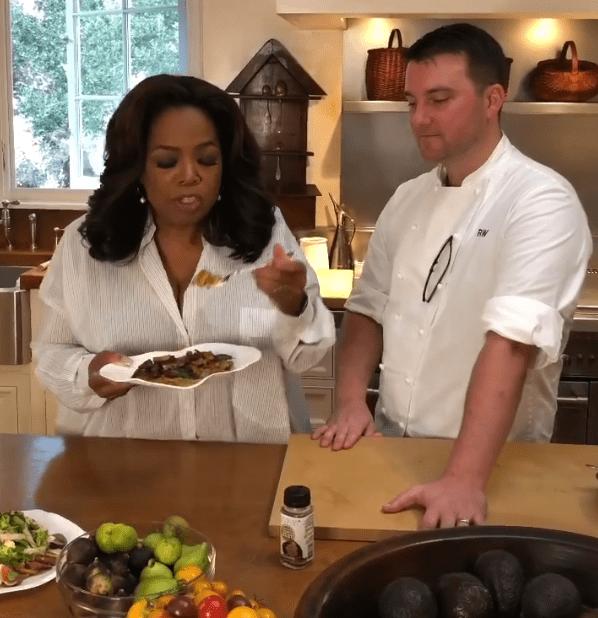 Oprah Winfrey with her chef Raymond Weber