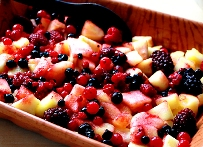Baked Apple Mixed Berries with Cinnamon (Cabbage Soup Diet Recipe)