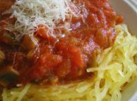 Low-Carb Spaghetti Squash with Tomato Sauce Recipe