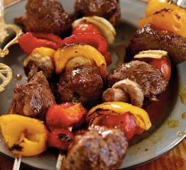 Beef Mushroom Vegetables Kebab Skewers (Dukan Diet PV Cruise Recipe)