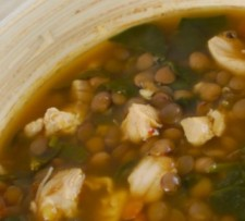 Chicken Spinach Curried Lentil Soup (South Beach Phase 1 Recipe)