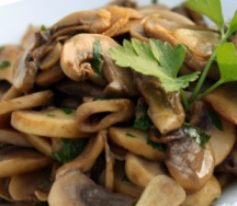 Low-Calorie Sautéed Button Mushrooms with Parsley Recipe