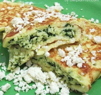 Savory Spinach Ricotta Crepes (South Beach Phase 1 Recipe)