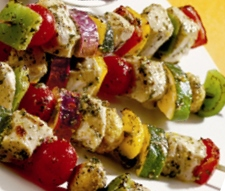 Gluten-Free Chicken Mushroom Vegetables Kebabs Recipe