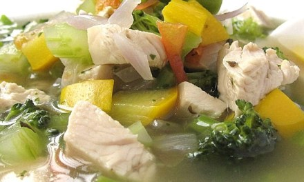 Mixed Veggies Green Bean Chicken Soup (South Beach Phase 1 Recipe)