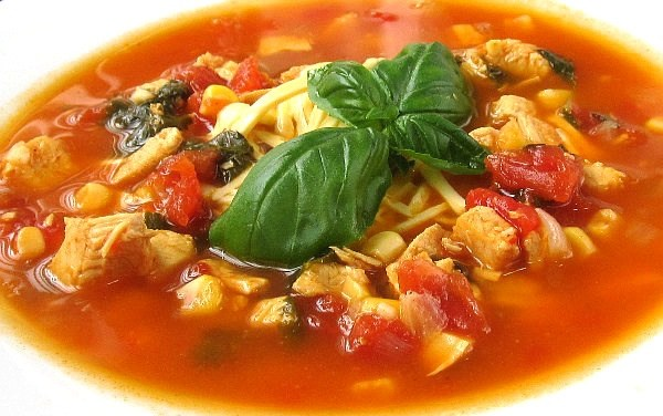 Chicken Tortilla Soup (South Beach Phase 3 Recipe)