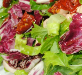 Italian Romaine Radicchio Chopped Salad (Diabetic Recipe)