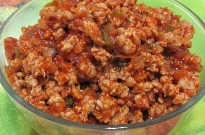 Onion Tomato Sauce Minced Pork (Atkins Diet Phase 1 Recipe)