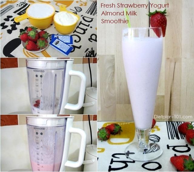 strawberry-yogurt-almond-milk-smoothie