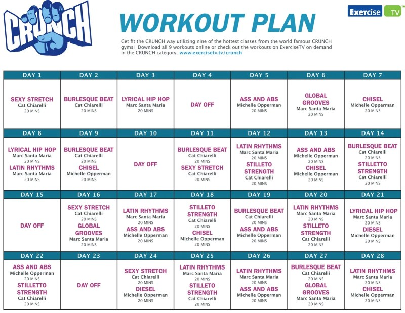 workout plans to lose weight pdf