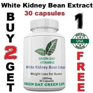 White Kidney Bean Extract 1000mg Carb Diet Phaseolus Vulgaris  Weight Loss