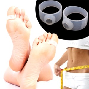 1 Pair Silicone Magnetic Slimming Foot Ring Lose Weight Body Massage Silicon Slim Diet Foot Massager Toe Rings U3