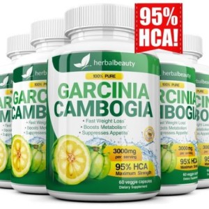 5 Pack GARCINIA CAMBOGIA 95% HCA Diet Pills Weight Loss Fat Burner 3000mg