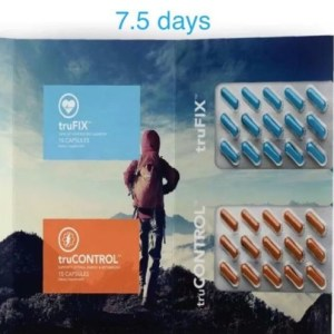 1 WEEK Truvision DIET 7.5 days 30 CAPSULES truFIX & truCONTROL Weight Loss L@@K