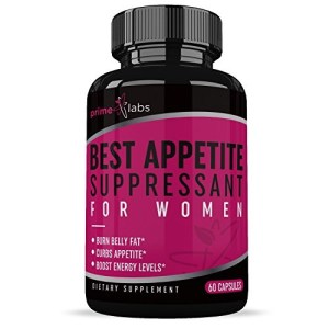 Best Appetite Suppressant for Women (60 capsules) :: Helps Curb Food Cravings :: Enhance Energy Levels :: Burn Fat :: Weight Loss Pills :: Prime Labs