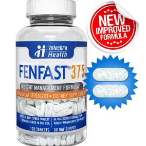 FENFAST® 375 NEW IMPROVED FORMULA Weight Loss Diet Pills 120 White/Blue Tablets