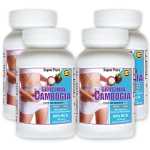 4 pack GARCINIA CAMBOGIA SUPER PURE MAX WEIGHT LOSS DIET EXTRACT FAT BURN PLUS