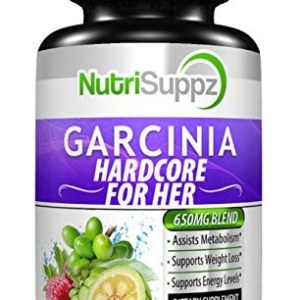 GARCINIA FOR HER HARDCORE - 100% Pure Garcinia Cambogia, Appetite Suppressant, Weight Loss Pills, Fat Burner, Raspberry Ketones, Green Tea, Green Coffee Bean, Garcinia Cambogia Weight Loss