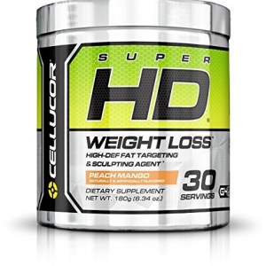 Cellucor SuperHD Thermogenic Fat Burner Powder for Weight Loss, Fat Burners For Men & Women, Peach Mango, 30 Servings