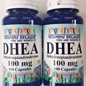 2 X DHEA 100mg 200 Capsules 3 Month Supply Diet Supplement Lose Fat Build Muscle