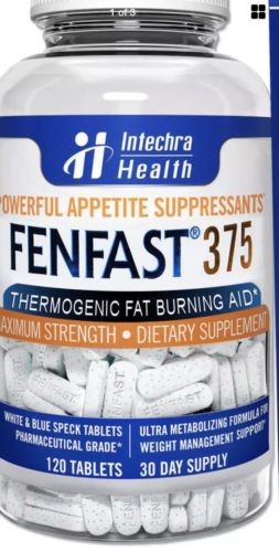 FENFAST® 375 Thermogenic Fat Burning Aid Powerful Energy 120 Diet Pills See Desc
