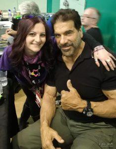 Io e il mitico LOU FERRIGNO Lincredibile Hulk)